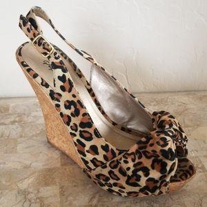 SALE! Leopard Wedges